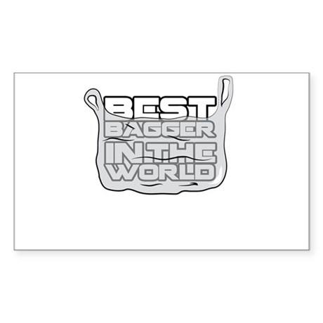 Best Bagger in the World Sticker (Rectangle)