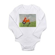 orange tractor Long Sleeve Infant Bodysuit