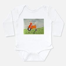 orange tractor Long Sleeve Infant Bodysuit