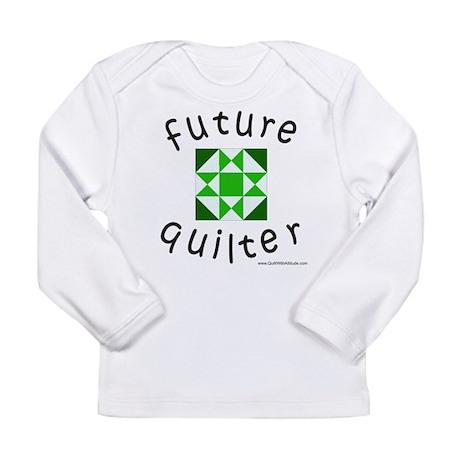 future-quilter-black-green Long Sleeve T-Shirt