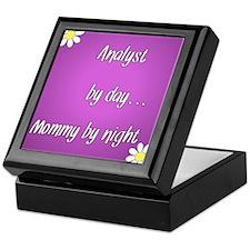 Analyst by day Mommy by night Keepsake Box