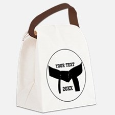 Custom Martial Arts Black Belt Canvas Lunch Bag