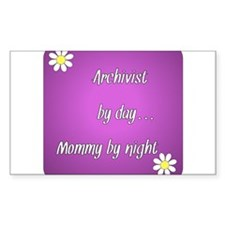 Archivist by day Mommy by night Decal