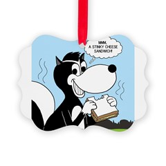 Stinky Cheese Sandwhich Ornament