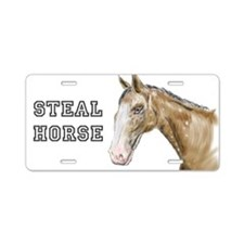 Steal Horse Aluminum License Plate