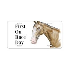 First Horse Race Aluminum License Plate