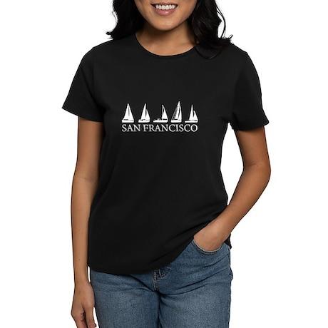 San Francisco Boats Women's Dark T-Shirt
