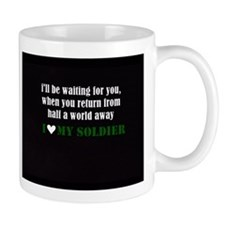 i love my soldier Small Mug