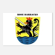 Rose Barracks with Text Postcards (Package of 8)