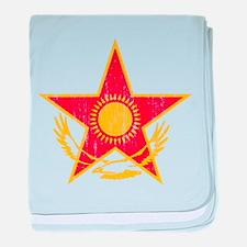 Kazakhstan Roundel baby blanket