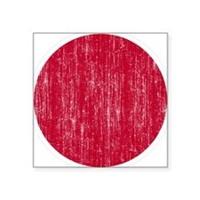 "Japan Roundel Square Sticker 3"" x 3"""