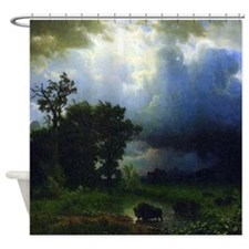 Bierstadt Before The Storm Shower Curtain