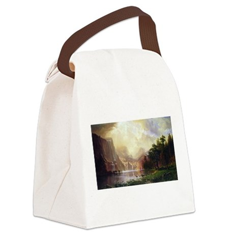 Bierstadt Sierra Nevada Canvas Lunch Bag