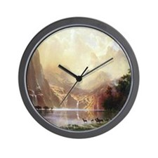 Bierstadt Sierra Nevada Wall Clock