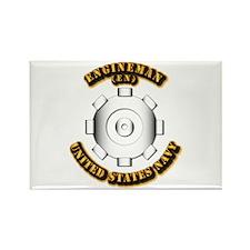 Navy - Rate - EN Rectangle Magnet