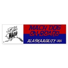 MACH Dog On Board Bumper Bumper Sticker