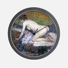 Toulouse-Lautrec Woman Naked Wall Clock