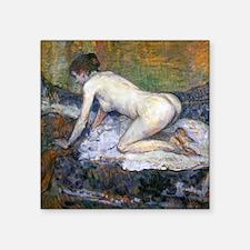 "Toulouse-Lautrec Woman Naked Square Sticker 3"" x 3"