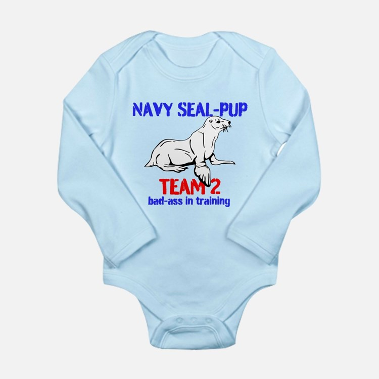 Navy Seal-pup Long Sleeve Infant Bodysuit