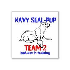 "Navy Seal-pup Square Sticker 3"" x 3"""