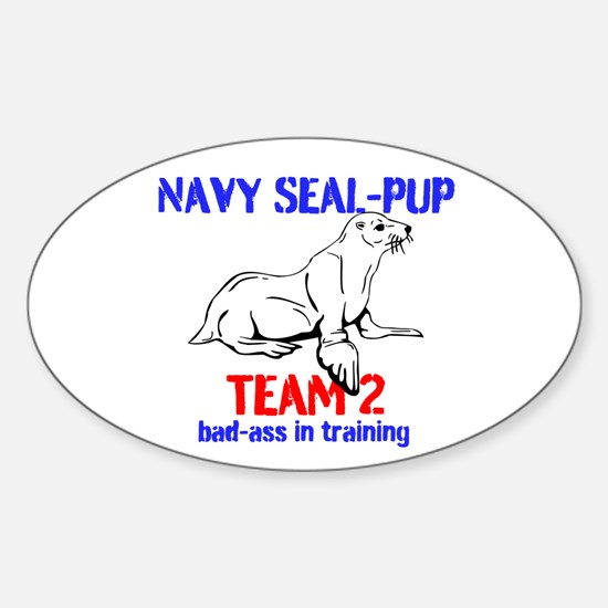 Navy Seal-pup Sticker (Oval)