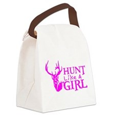 HUNT LIKE A GIRL Canvas Lunch Bag