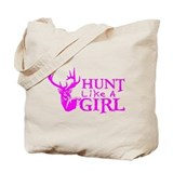 Girls hunting Canvas Totes