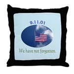 9-11 We Have Not Forgotten Throw Pillow