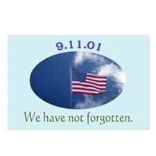 9-11 We Have Not Forgotten Postcards (Package of 8