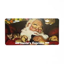 Santa's Express Aluminum License Plate