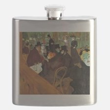 Toulouse-Lautrec At the Moulin Rouge Flask