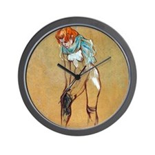 Toulouse-Lautrec Stockings Wall Clock