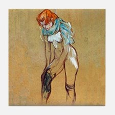Toulouse-Lautrec Stockings Tile Coaster