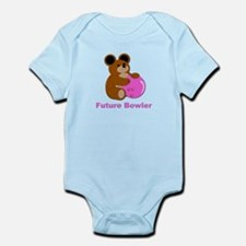 Future Bowler in Pink Infant Bodysuit