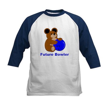 Future Bowler in Blue Kids Baseball Jersey