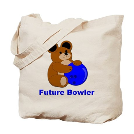 Future Bowler in Blue Tote Bag