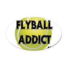flyball-1 flat.png Oval Car Magnet