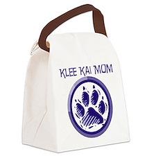 alaskan klee kai mom black.png Canvas Lunch Bag