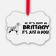 brittany dog bumper.png Ornament