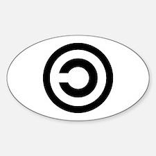Copyleft (Anti-Copyright) Oval Decal
