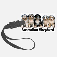 aussie pups with breed.png Luggage Tag