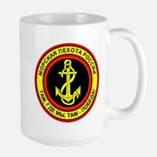 Russian Naval Infantry Decal Large Mug