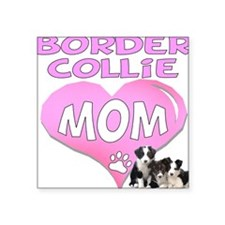 "border collie mom heart2.png Square Sticker 3"" x 3"