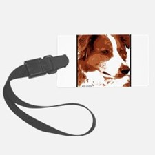 red border collie with border.jpg Luggage Tag