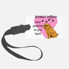 brussels griffons pawprints.png Luggage Tag