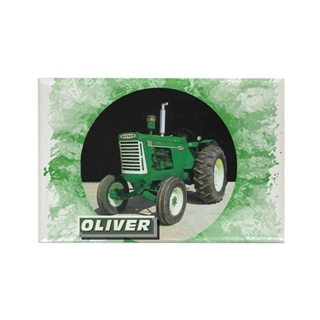 Oliver Tractor Rectangle Magnet