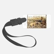 CHESSIE HUNTING SCENE black.png Luggage Tag