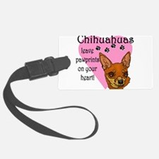 Chihuahua pawprints new.png Luggage Tag