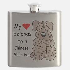 My heart shar pei.png Flask