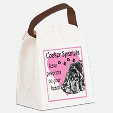 cocker spaniels paw prints.png Canvas Lunch Bag